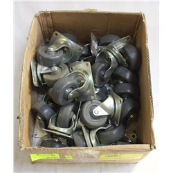 FLAT OF SWIVEL CASTORS- 270LBS LOAD-3""
