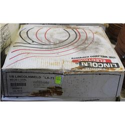 BOXED ROLL OF LINCOLN ELECTRIC COILED WELDING WIRE