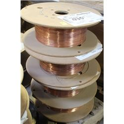 4 PARTIAL ROLLS OF AIR LIQUIDE COILED WELDING WIRE