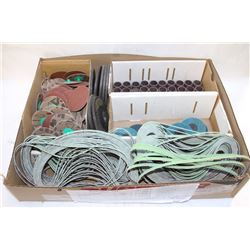FLAT OF ASSORTED ABRASIVE DISCS & STRIPS