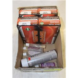 FLAT OF BLAZE GLOVES, BIO HAND CLEANER AND