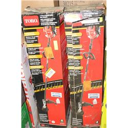 GROUP OF 2 TORO 2-CYCLE GAS WEED WHACKERS