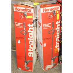 GROUP OF 2 HOMELITE 2-CYCLE GAS WEED WHACKERS