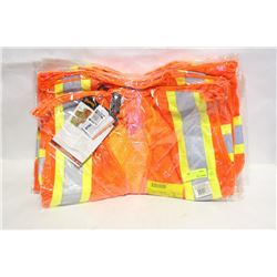 GROUP OF 7 ASSORTED MESH SAFETY VESTS