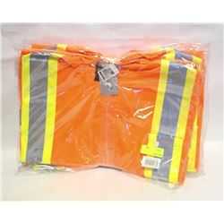 GROUP OF 5 PIONEER MESH SAFETY VESTS- 3XL