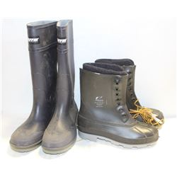 NEW PAIRS OF ONGUARD & BAFFIN RUBBER STEEL TOE