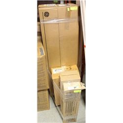 5 CASES OF VARIOUS LIGHTBULBS & WIRE-GUARD STRIPS