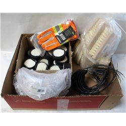 LOT OF SMALL AIR FILTERS, 3M REPLACEMENT CHIN
