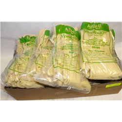 FLAT OF ANSELL VERSATOUCH LATEX GLOVES