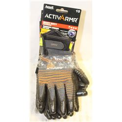 GROUP OF 5 NEW ANSELL ACTIVARMR HEAVY DUTY GLOVES