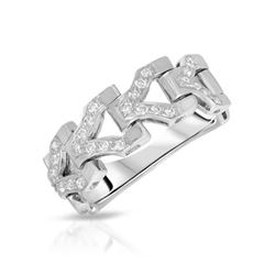 0.27 CTW Diamond Ring 18K White Gold - REF-59M3F