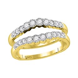 0.50 CTW Diamond Wrap Ring 14KT Yellow Gold - REF-64M4H