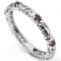 ***NEW*** RING - CHARMING 1/3 CT RUBY IN 925 STERLING SILVER SETTING - SETTING 7 - INCLUDES CERTIFIC