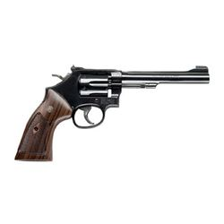 """S& W 48 22WMR 6"""" 6RD BL WD AS"""