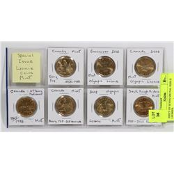 SHEET OF SEVEN SPECIAL ISSSUE LOONIES.