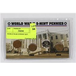 WORLD WAR II PENNY SET.