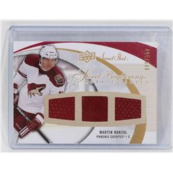 MARTIN HANZAL ROOKIE , EVENT USED MEMORABILIA CARD