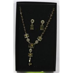 HEIDI DAUS SWAVROSKI CRYSTAL NECKLACE & EARRING