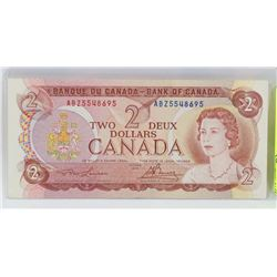 1974 CANADIAN $2.00 BANK NOTE