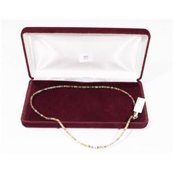 SLVER FANCY COLOR SAPPHIRE NECKLACE, COMES WITH