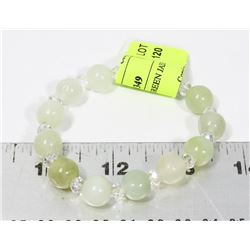GENUINE LIGHT GREEN JADE BRACELET