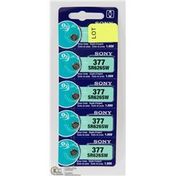 PACK OF 5 SONY 377 WATCH BATTERIES