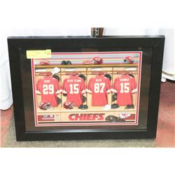 CHIEFS FRAMED MATTED PICTURE.