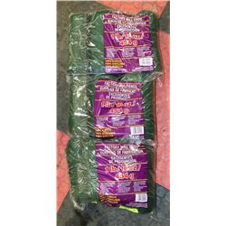LOT OF 3- DARK GREEN 1LB BAGS OF 100% ACRYLIC YARN
