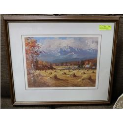 SIGNED & NUMBERED 167/750 FRAMED CANADIAN ARTIST