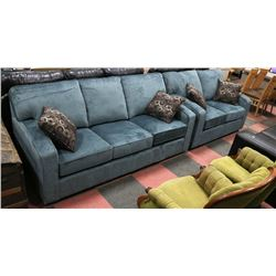 "NEW BLUE CORDUROY 81"" SOFA W/ 58"" LOVE SEAT INCL"