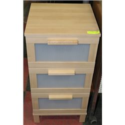 "3 DRAWER STORAGE CABINET 16""X16""X32"""