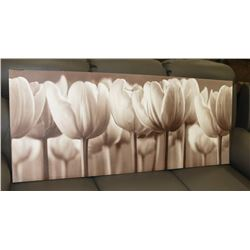 "SEPIA TONE TULIP CANVAS PICTURE 55""X22.5"""