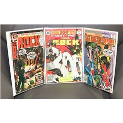 SET OF 3 OLD SGT ROCK COMIC BOOKS