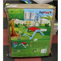 PALPLAY KIDS PICNIC TABLE IN BOX