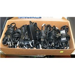 BOX OF ASSORTED LAPTOP CHARGERS