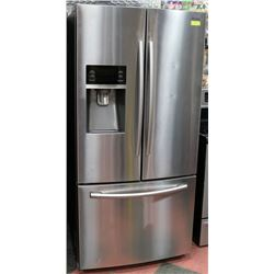 SAMSUNG STAINLESS STEEL FRIDGE.