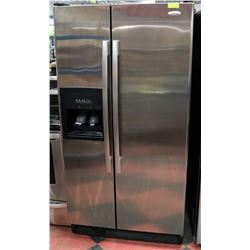WHIRLPOOL STAINLESS STEEL FRIDGE.
