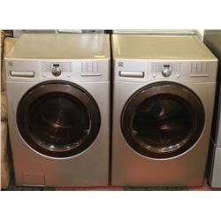 KENMORE WASHER & DRYER SET WITH SIDE VENTING.