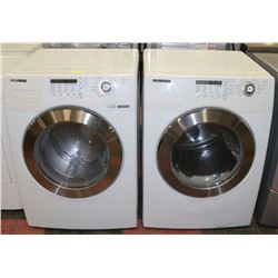 SAMSUNG FRONT LOAD WASHER AND DRYER, WHITE
