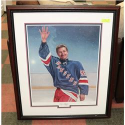 WAYNE GRETZKY FAREWELL NUMBERED, MATTED & FRAMED