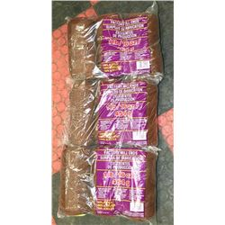 LOT OF 3- BROWN 1LB BAGS OF 100% ACRYLIC YARN