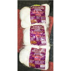 LOT OF 3- WHITE YARN