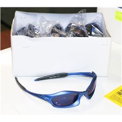 BOX OF BLUE DESIGNER SUNGLASSES