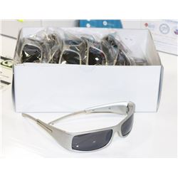 BOX OF SILVER GRAY DESIGNER SUNGLASSES