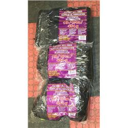 LOT OF 3- BLACK  1LB BAGS OF 100% ACRYLIC YARN