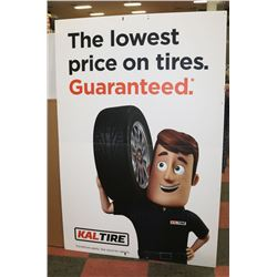 LOT OF KAL TIRE SIGNS