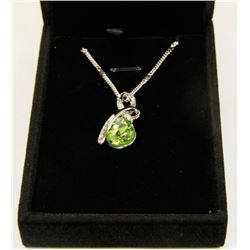 YELLOW GREEN  FASHION NECKLACE WITH