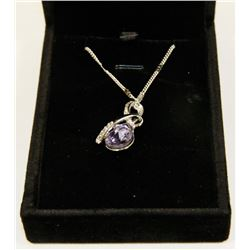 LIGHT VIOLET FASHION NECKLACE WITH
