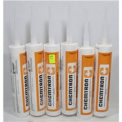 LOT OF 6 TUBES CHEMTRON MULTISEAL SILICONE SEALANT