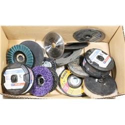 """BOX WITH NEW 4 1/2"""" CUT-OFF WHEELS, FLAP"""